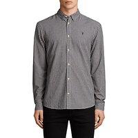 AllSaints Quarry Check Slim Fit Shirt, Ink Navy/Ecru White