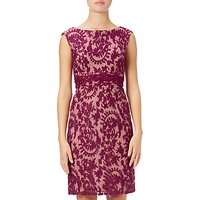 Adrianna Papell Lace Cap Sleeve Sheath Dress, Crushed Berry