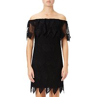 Adrianna Papell Off Shoulder Lace Shift Dress, Black