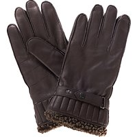 Barbour Tindale Leather Gloves, Brown