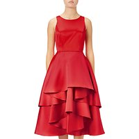 Adrianna Papell Petite Sleeveless Fit And Flare Cocktail Dress, Persimmon Red