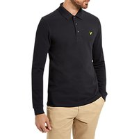 Lyle & Scott Long Sleeve Plain Pique Polo Shirt