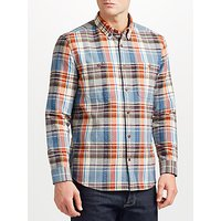 JOHN LEWIS & Co. Textured Check Shirt, Red