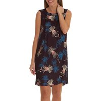 Betty Barclay Floral Print Sleeveless Dress, Purple/Petrol
