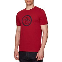 Original Penguin Distressed Circle Logo T-Shirt, Rio Red