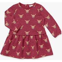 John Lewis Baby Fawn Jersey Dress, Pink