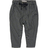 Wheat Baby Check Trousers, Grey