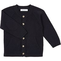 Wheat Baby Knit Cardigan, Navy