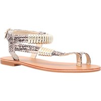shop for Carvela Klipper Flat Sandals, Beige Snake at Shopo