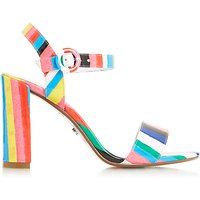 Dune Marraca Rio Stripe Block Heeled Sandals, Multi