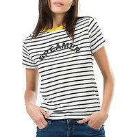 Sugarhill Boutique Mimi Dreamer T-Shirt, White/Black