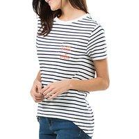 Sugarhill Boutique Hello Sailor Mimi T-Shirt, White/Navy