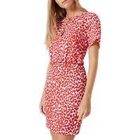 Damsel in a dress Strawberry Leopard Dress, White/Red
