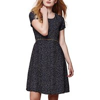 Yumi Nordic Dash Print Dress, Navy