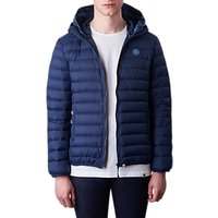 Pretty Green Barker Mens Hooded Puffer Jacket, Navy