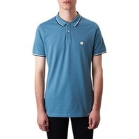 Pretty Green Barton Tipped Polo Shirt, Light Blue