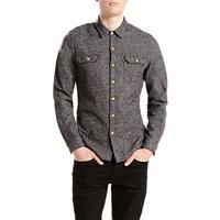 Levis Jackson Worker Shirt, Dark Heather Grey