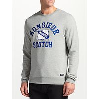 Scotch & Soda Monsieur Crew Neck Sweatshirt, Grey Melange