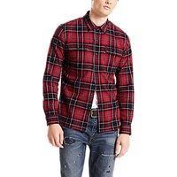 Levis Jackson Worker Shirt, Red Dahlia