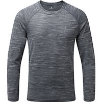 Ronhill Momentum Long Sleeve Running Top, Charcoal