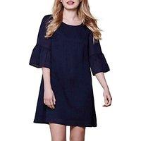 Yumi Plain Tunic Dress, Navy