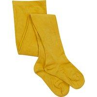John Lewis Girl Cotton Tights, Mustard