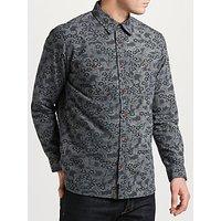 JOHN LEWIS & Co. Floral Print Shirt, Navy