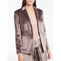 Modern Rarity Velvet Jacket, Taupe