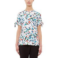 Ted Baker Lande Paint Splash Print Blouse, Ivory