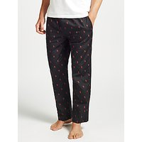 Polo Ralph Lauren Woven Pony Lounge Pants, Black/Red
