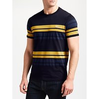 Fred Perry Multi Stripe T-Shirt, Navy