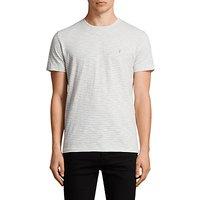 AllSaints Tonic Trid Crew T-shirt, White/Storm Blue