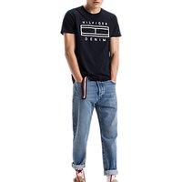 Hilfiger Denim Basic Crew Neck T-Shirt, Navy/Dark Blue