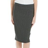 Max Studio Stretch Jacquard Skirt, Black/Cream