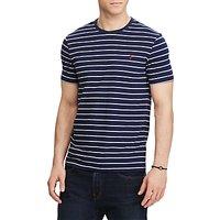 Polo Ralph Lauren Short Sleeve Crew Neck T-Shirt, French Navy/Andover Heather