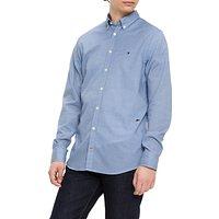 Tommy Hilfiger Micro Argyle Print Shirt, Dark Blue/White