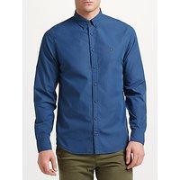 Tommy Hilfiger 1st Class Peach Poplin Shirt, Ensign Blue