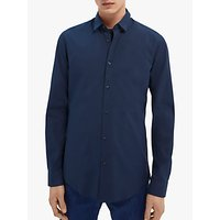 Scotch & Soda Classic Poplin Long Sleeve Shirt, Night