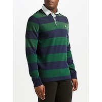 Polo Ralph Lauren Long Sleeve Rugby Knit, French Navy/New Forest