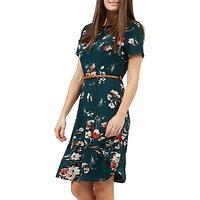 Sugarhill Boutique Ohara Sketchy Floral Dress, Teal