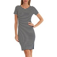 Betty Barclay Striped Jersey Dress, Dark Blue/Cream