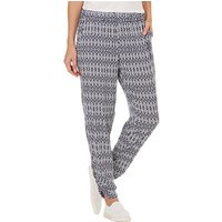 Betty Barclay Printed Trousers, Dark Blue/Cream