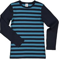 Polarn O. Pyret Childrens Striped Long Sleeve Top, Blue