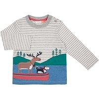 John Lewis Baby Moose Husky Boat Top, Grey