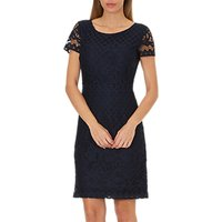 Betty Barclay Lace Shift Dress, Dark Sky