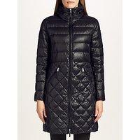 Lauren Ralph Lauren Quilted Full Zip Coat, Black