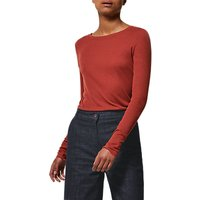 Toast Long Sleeve Fine Wool Top, Rust