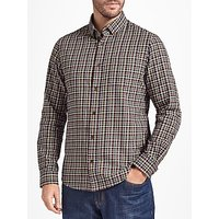 John Lewis Chapman Gingham Soft Flannel Check Shirt, Navy/Multi