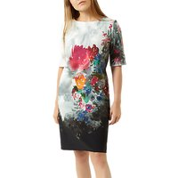 Fenn Wright Manson Petite Kamelia Print Dress, Multi