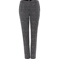 Damsel in a dress Tribe Jacquard Trousers, Black/Ivory
